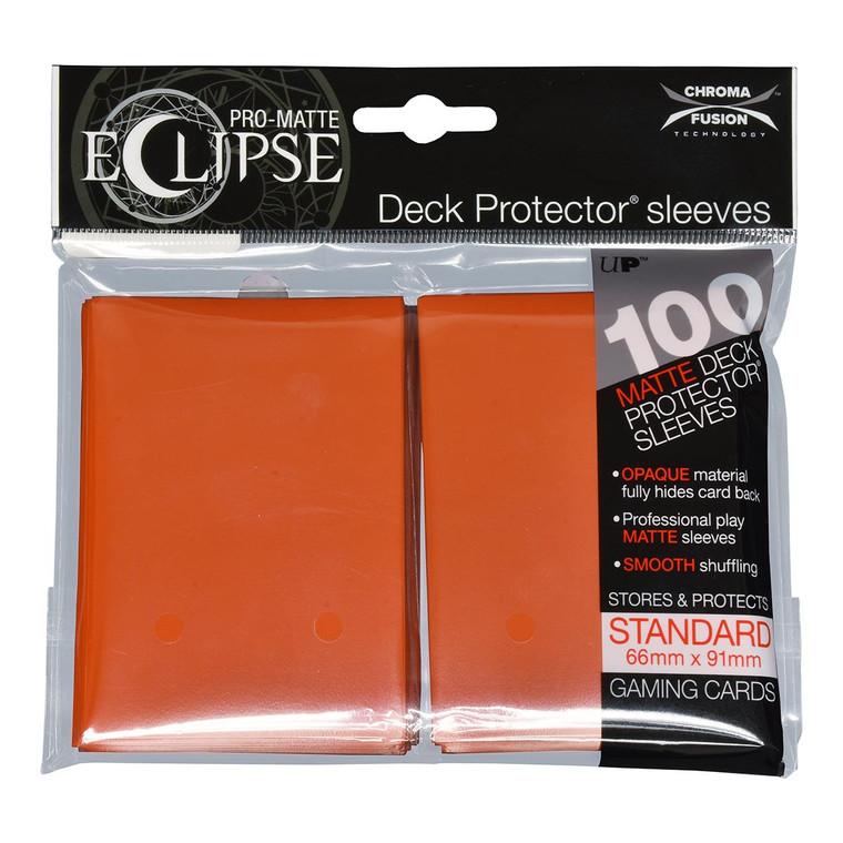 100ct Pro-Matte Orange Eclipse Deck Protectors
