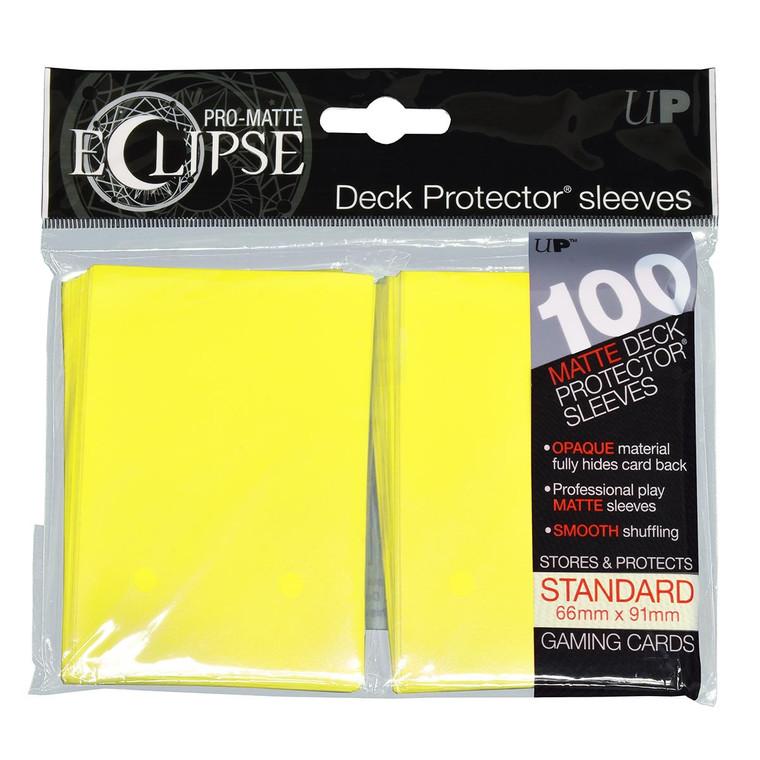100ct Pro-Matte Yellow Eclipse Deck Protectors