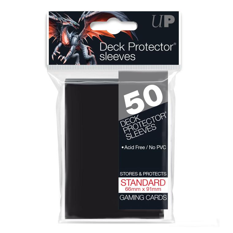 50ct Black Standard Deck Protectors