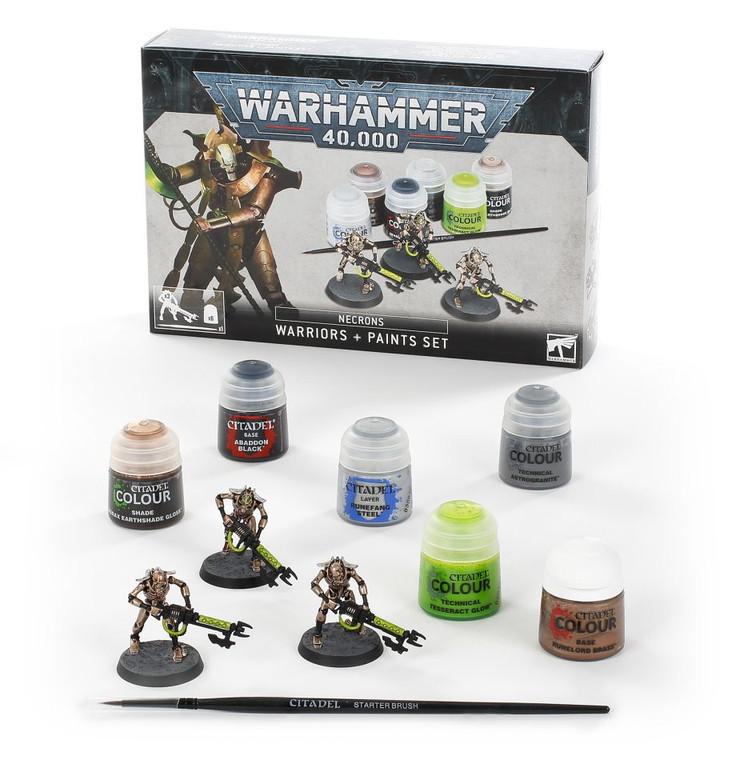 Warhammer 40K Necrons Warriors & Paints Set