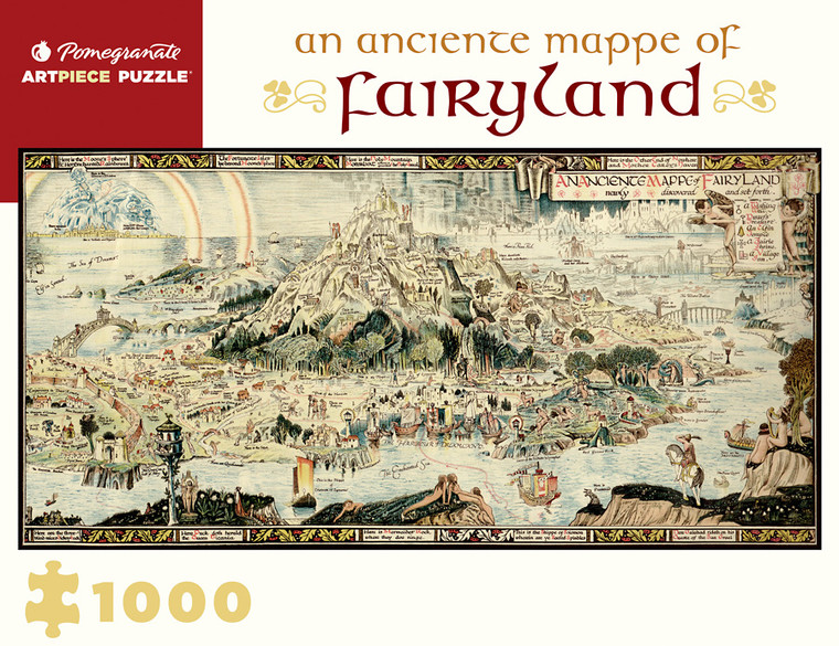 1000 Pc An Anciente Mappe of Fairyland