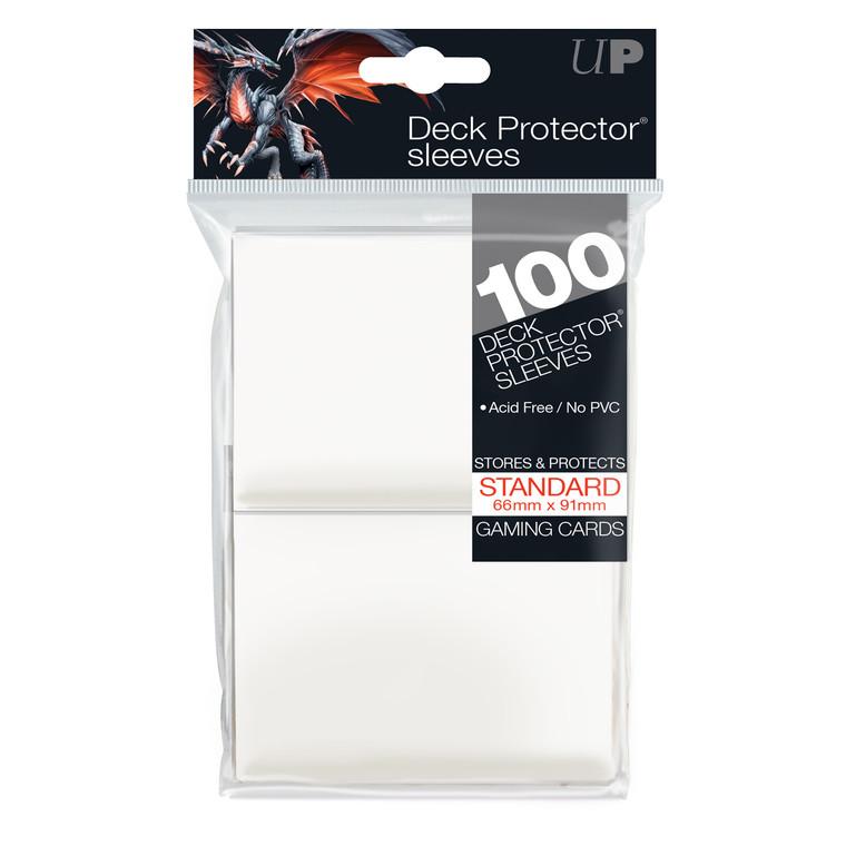 100ct White Standard Deck Protectors
