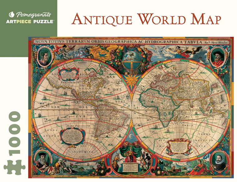 1000 Pc Antique World Map
