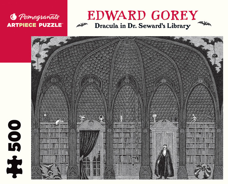 500 Pc Gorey, Edward: Dracula in Dr. Seward's Library