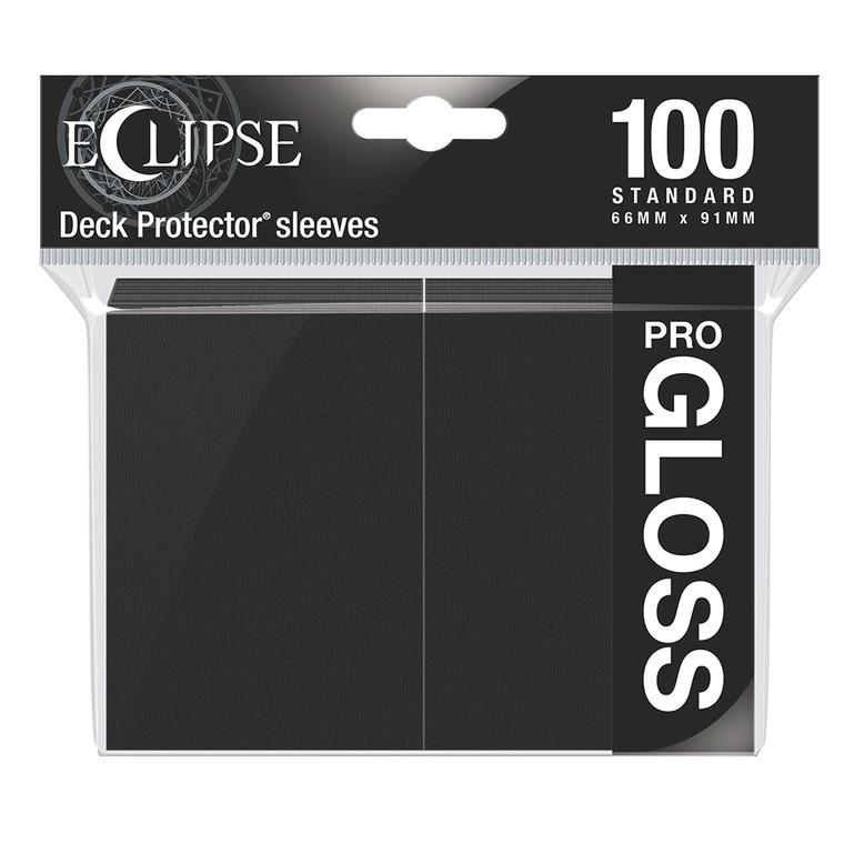 100ct Pro-Gloss Black Eclipse Deck Protectors