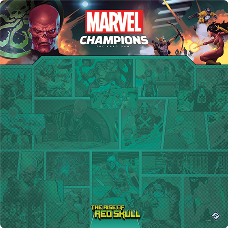 Red Skull 1-4 Player Game Mat