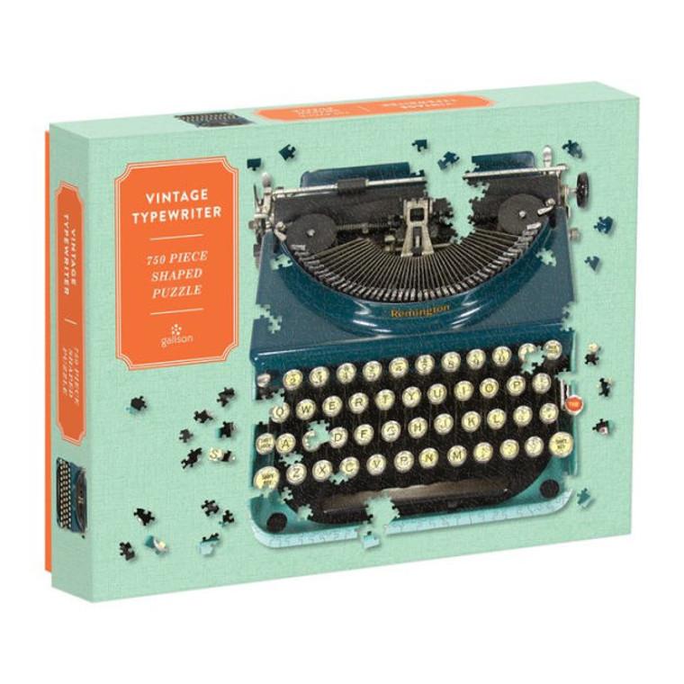 750 Pc Puzzle Shaped Vintage Typewriter