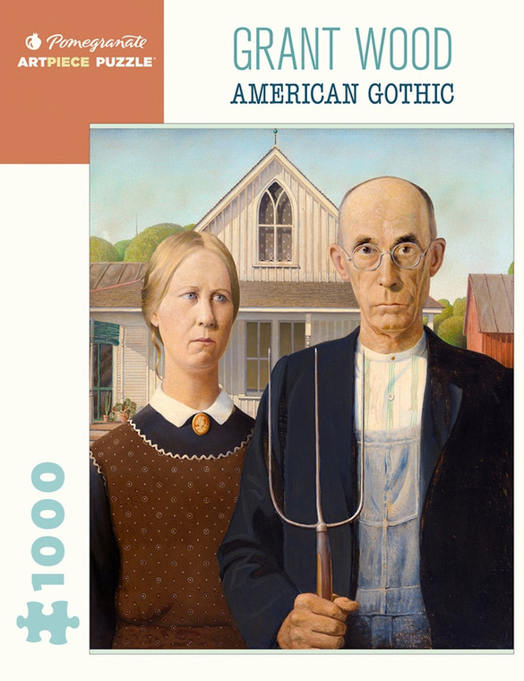 1000 Pc Wood, Grant: American Gothic
