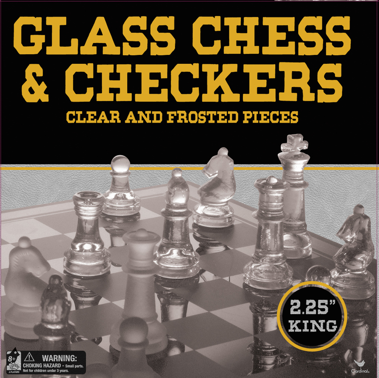 Chess & Checkers w/ Glass Chess Board