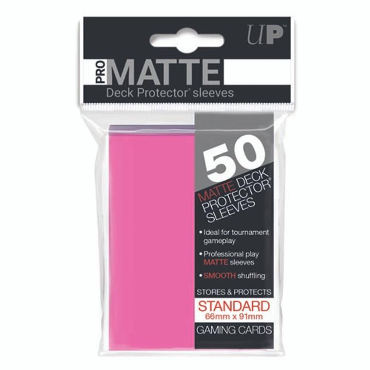 50ct Pro-Matte Bright Pink Standard Deck Protectors