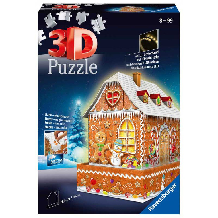 216 Pc 3D Gingerbread House Night Edition