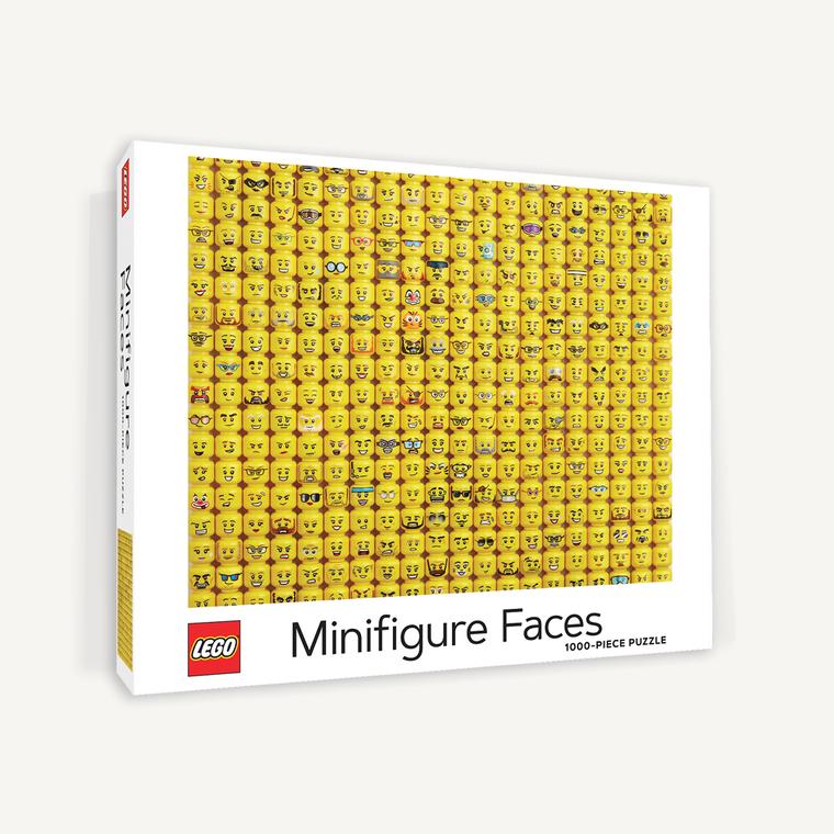 1000 pc LEGO Minifigure Faces