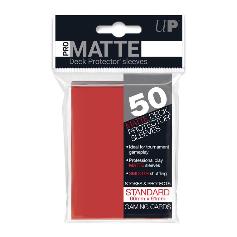 50ct Pro-Matte Red Standard Deck Protectors