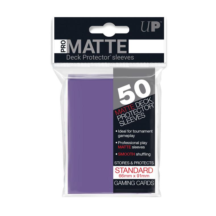 50ct Pro-Matte Purple Standard Deck Protectors