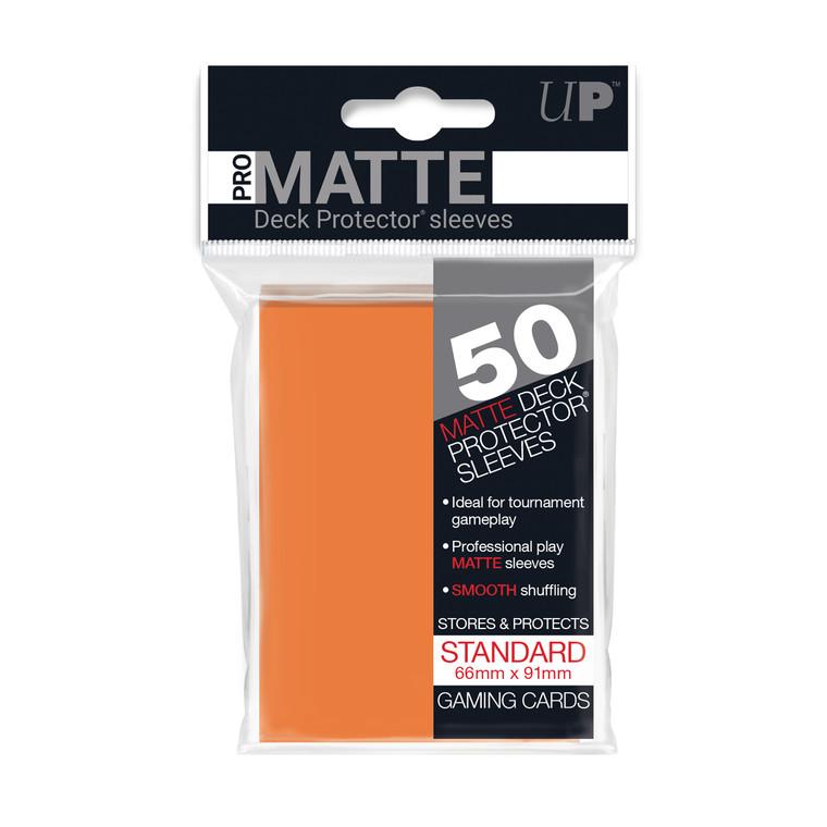 50ct Pro-Matte Orange Standard Deck Protectors