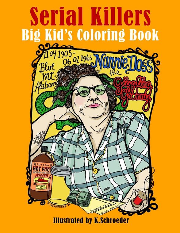 Serial Killers Coloring Book