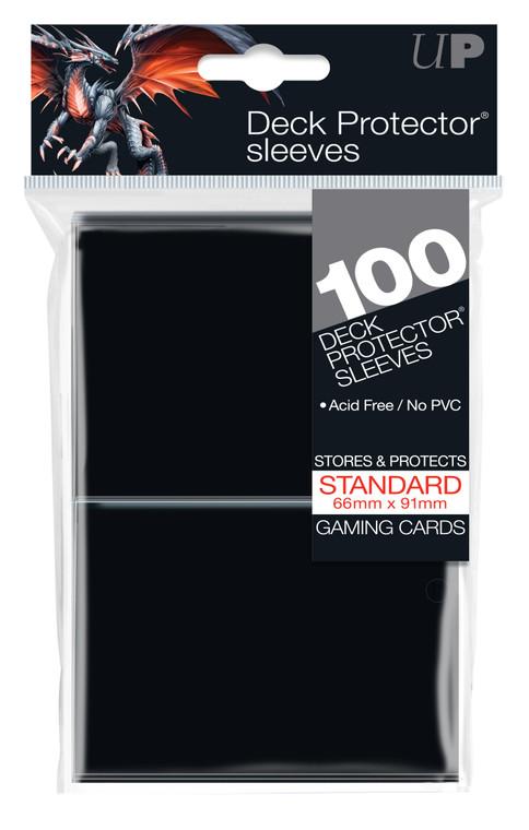 100ct Black Standard Deck Protectors