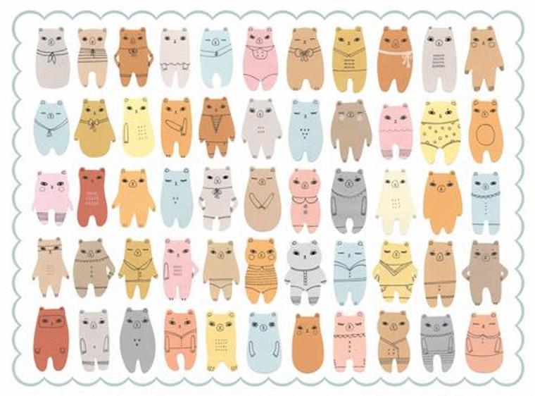 500 pc Paper Bears