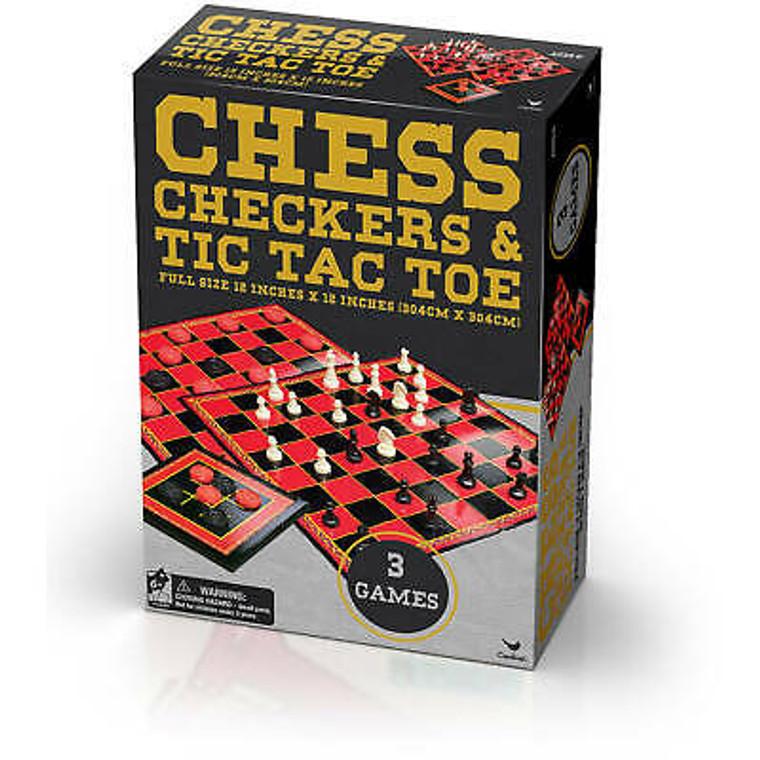 Chess, Checkers, & Tic Tac Toe