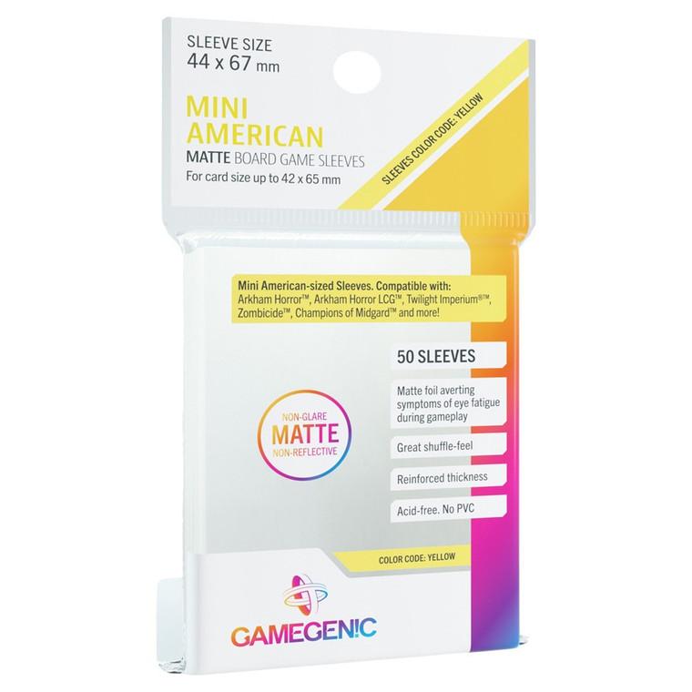 44mm x 67mm 50ct Mini American Matte Sleeves Yellow Gamegenic