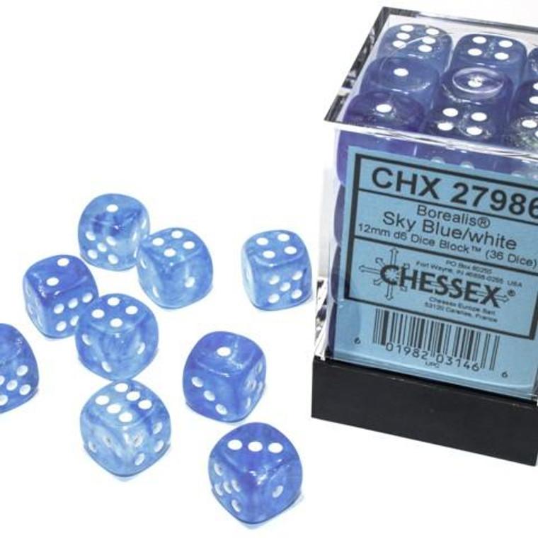 CHX D6 12mm 36 Borealis Sky Blue w/ White 27986