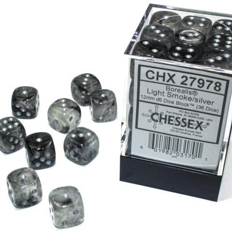 CHX D6 12mm 36 Borealis Light Smoke w/ Silver 27978