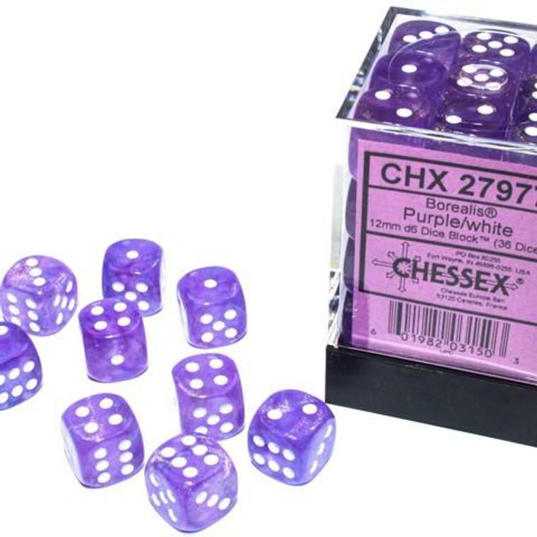 CHX D6 12mm 36 Borealis Purple w/ White 27977