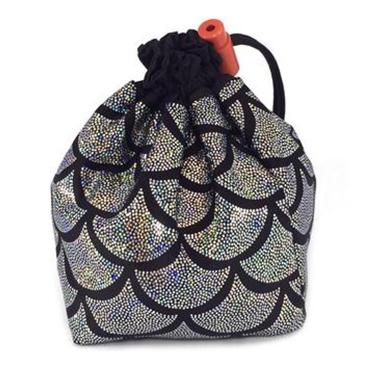 Dice Bag - Silver Mermaid Scales