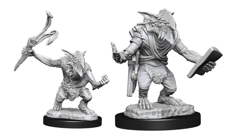 Unpainted NPC Goblin Guide & Goblin Bushwhacker MtG 90180