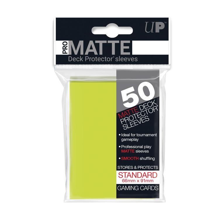 50ct Pro-Matte Bright Yellow Standard Deck Protectors