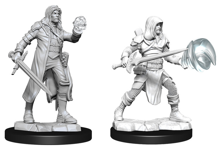 Unpainted PC Human Multiclass Fighter-Wizard Male NM 90150