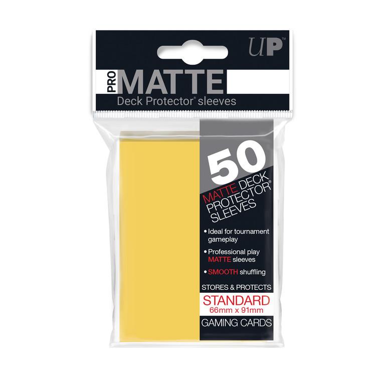 50ct Pro-Matte Yellow Standard Deck Protectors
