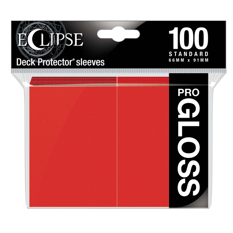 100ct Pro-Gloss Apple Red Eclipse Deck Protectors