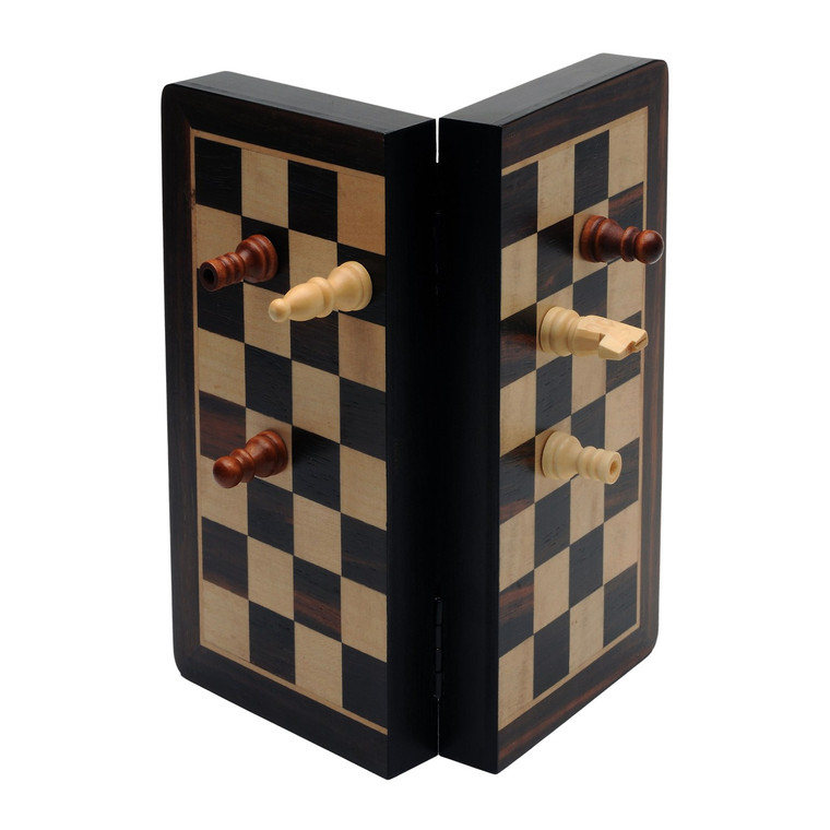 """Chess 8"""" Travel Wood Magnetic"""