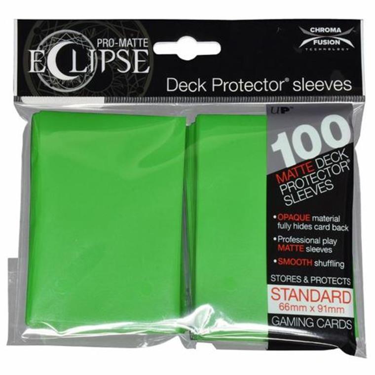 100ct Pro-Matte Lime Green Eclipse Deck Protectors