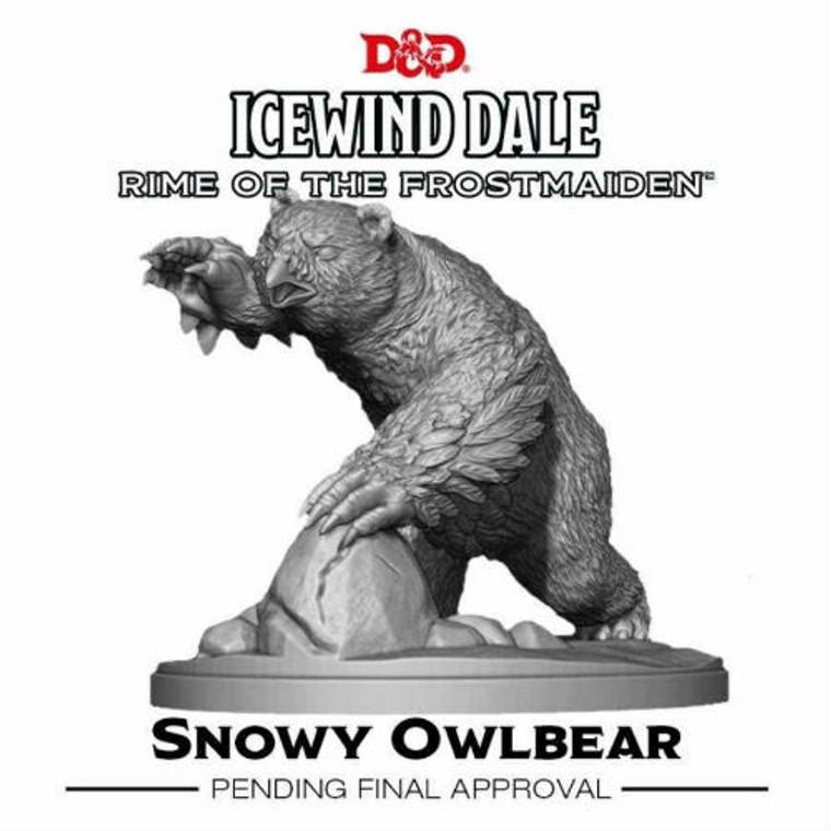 Unpainted NPC Snowy Owlbear Collector's Series