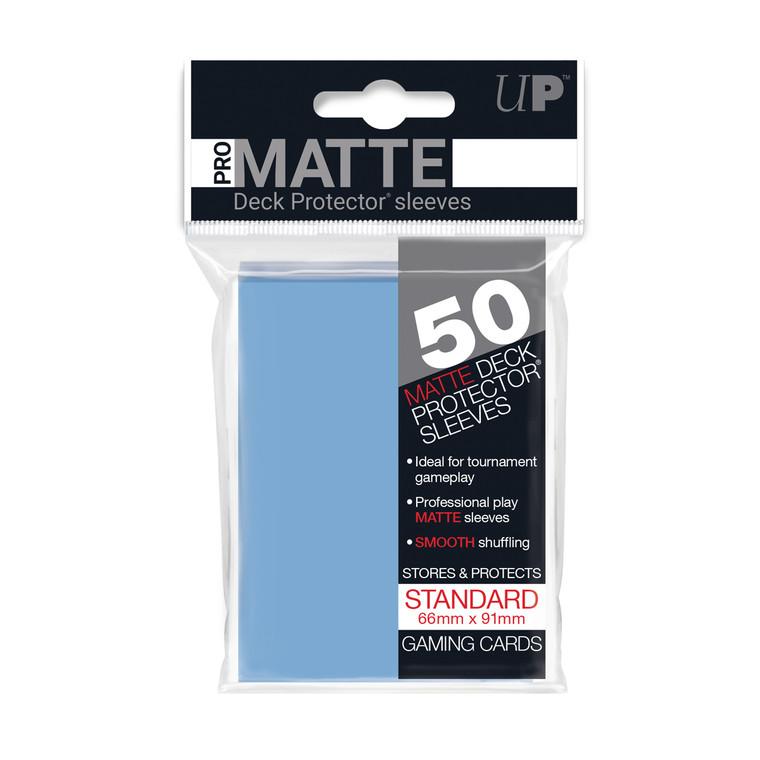 50ct Pro-Matte Light Blue Standard Deck Protectors