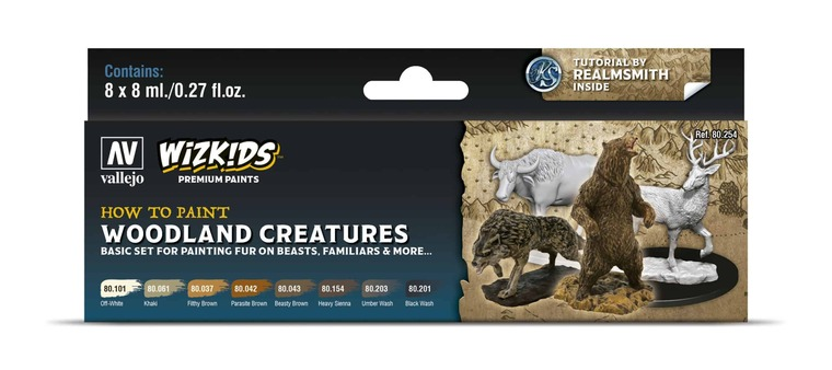 How To Paint Woodland Creatures - Vallejo Wizkids Premium Paint Set