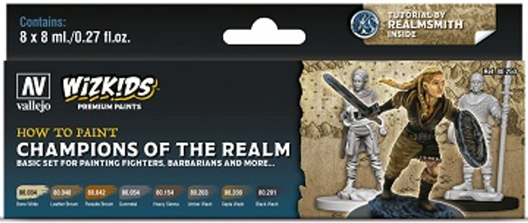 How To Paint Champions Of The Realm - Vallejo Wizkids Premium Paint Set
