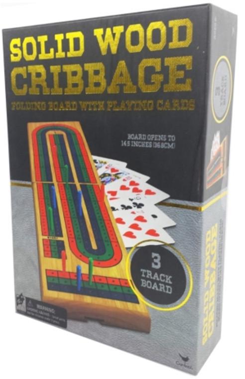 Cribbage 3-Track Solid Wood