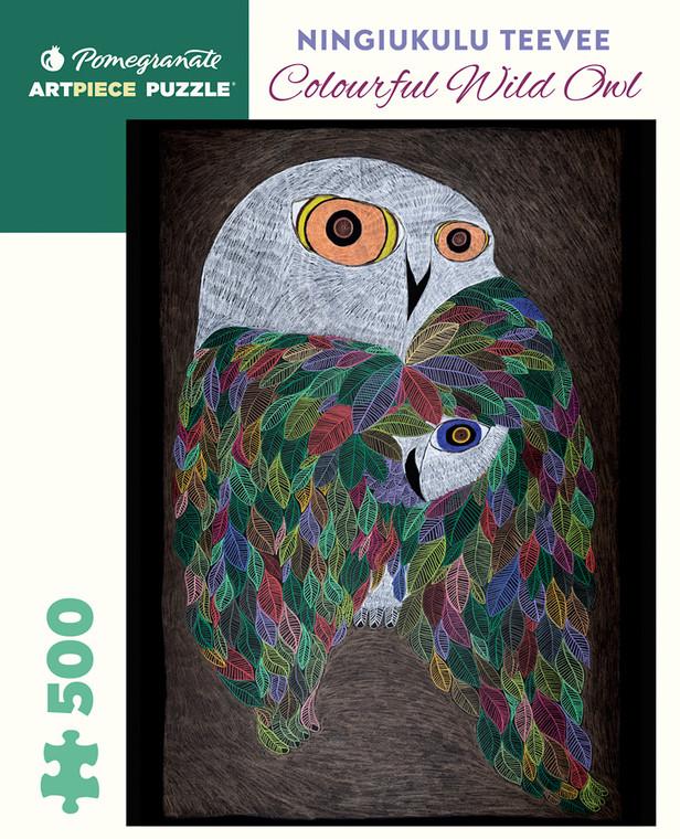 500 Pc Teevee, Ningiukulu: Colorful Wild Owl