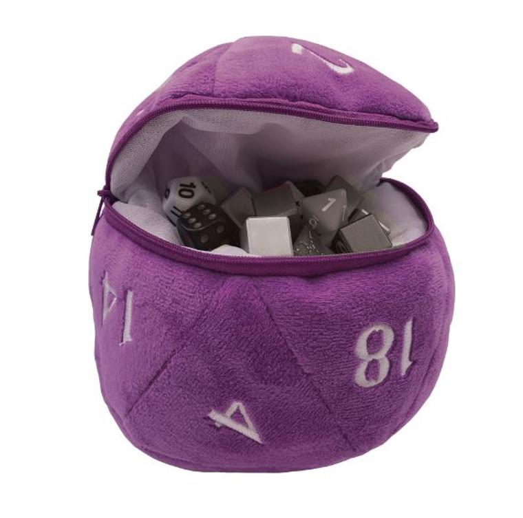 D20 Plush Dice Bag Purple