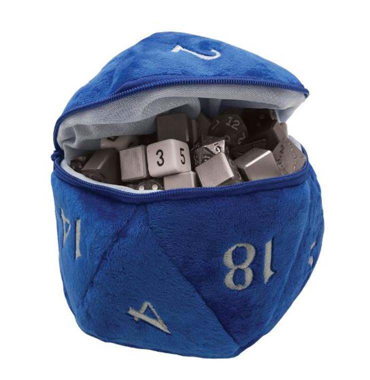 D20 Plush Dice Bag Blue