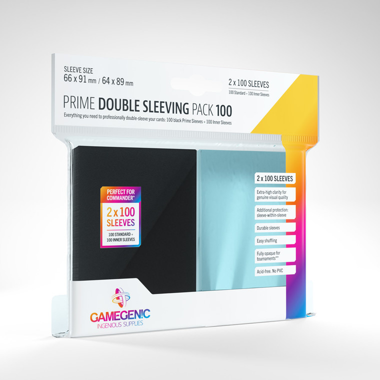 Prime Double Sleeving Pack 100ct Gamegenic
