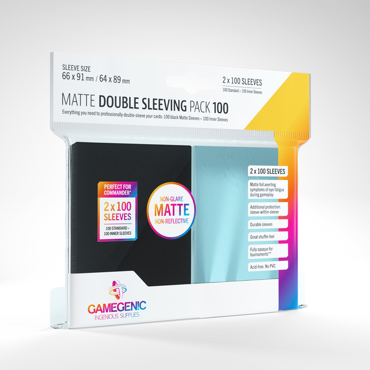 Matte Double Sleeving Pack 100ct Gamegenic