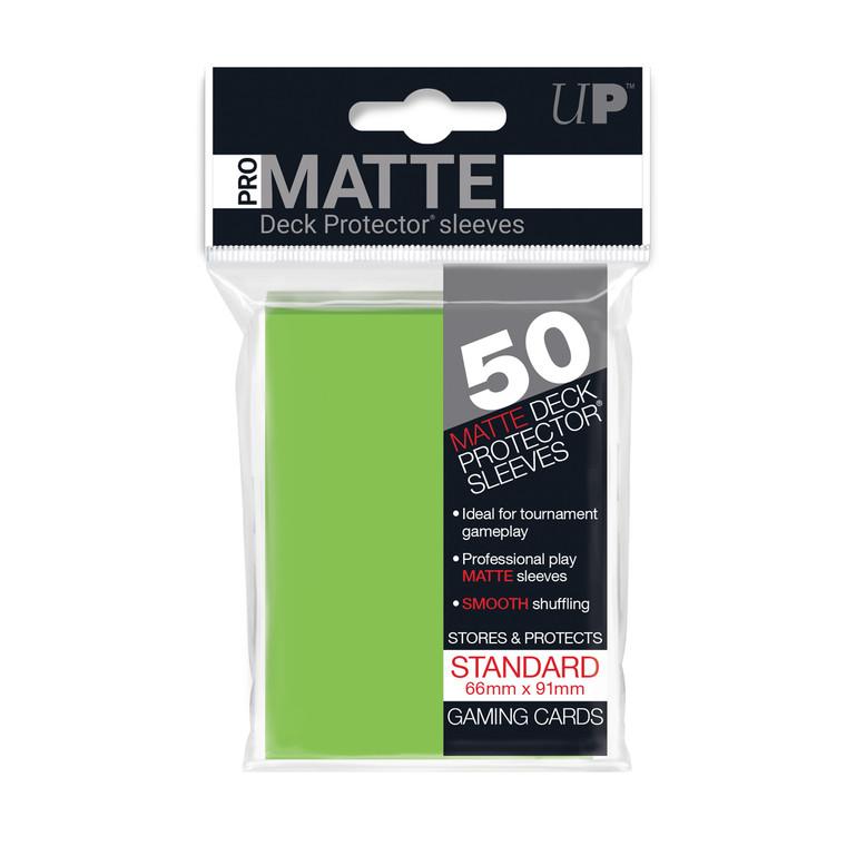 50ct Pro-Matte Lime Green Standard Deck Protectors