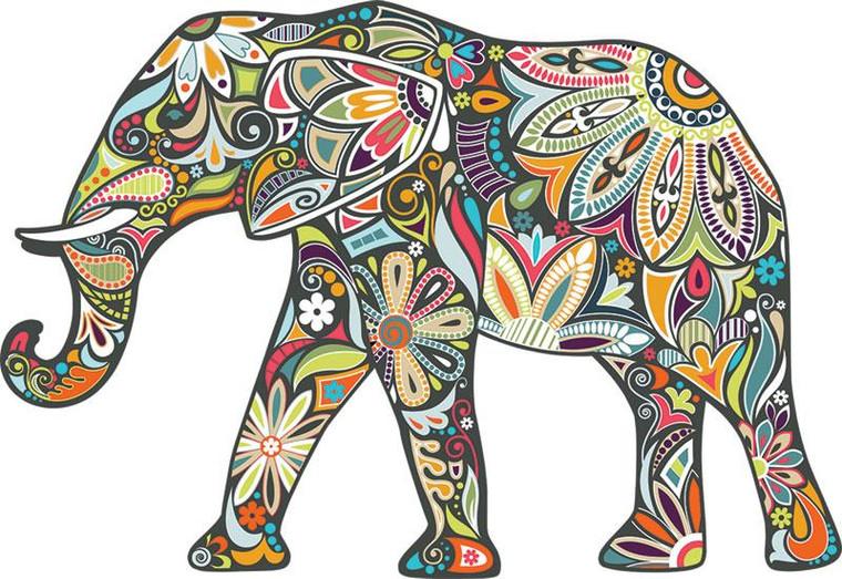 370 Pc Elephant Mosaic (Shaped)