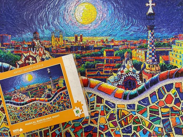 1000 Pc Edulescu, Ana Maria: Magical Barcelona Night