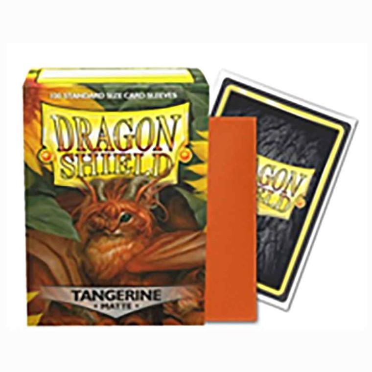 Dragon Shield Matte 100ct Tangerine