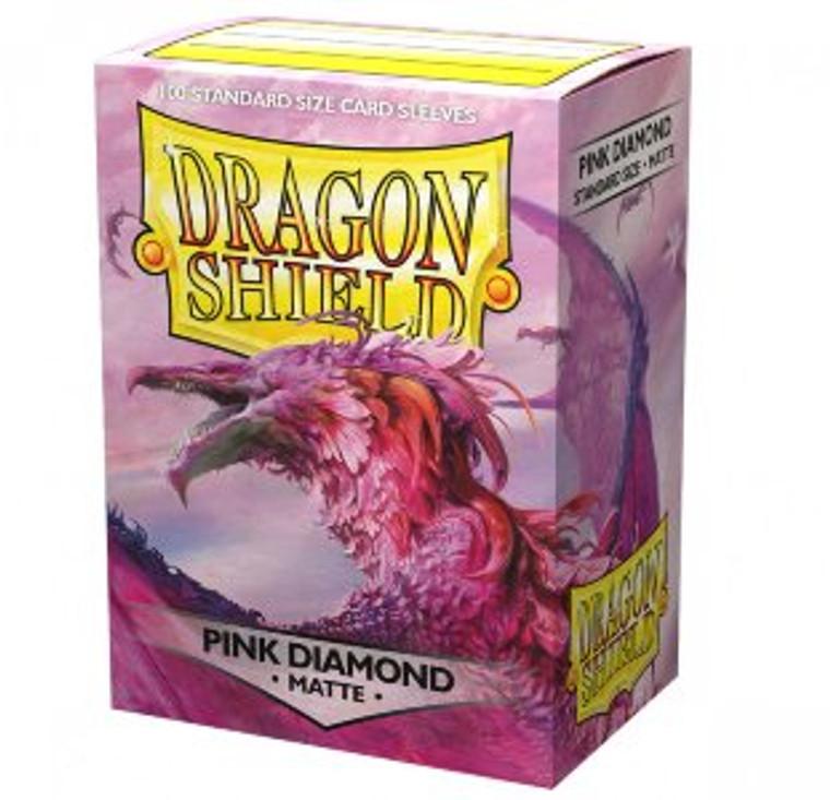 Dragon Shield Matte 100ct Pink Diamond